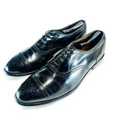 Allen Edmonds Mens Stratton Brogue Oxford Shoes Black Cap Toe Lace Up 11.5 C