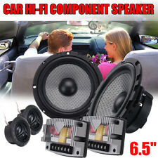 6PCS/Set 6.5'' Car Motorcycle Speaker Component HI-FI System Kit 400W Tweeters