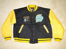 Vintage 1998 STUSSY varsity crew jacket 90s hip hop shirt  rap letterman  Sz.L