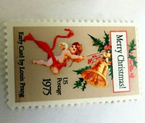 Stamps Early Christmas Card By LOUIS PRANG Scott 1975