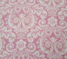 Romance BTY Tina Higgins VIP Cream Tan Floral Damask Dusty Pink
