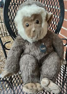 "Vintage 1983 Gund Collectors Classics Cappuccino Monkey 18"" Plush w/Hang Tag"