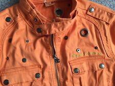 NEW-Apple Bottoms Sz XL/TG  -Short Sleeve Zip Jacket  -Pumpkin Color -NWT