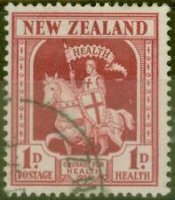New Zealand 1934 1d + 1d Carmine SG555 Fine Used