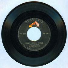 Philippines SHORTY LONG Happy Birthday To You 45 rpm Record