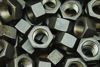 (8) Grade 8 Hex Finish Nuts 1-1/4-12 Plain Finish Unplated 1-1/4 -12 Pitch