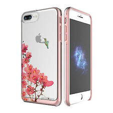 "Prodigee Show Blossom Clear iPhone 7 PLUS 5.5"" Clear 2 Piece Case Slim Cover"