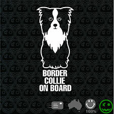 Border Collie On Board Sticker 220mmH Decal Dogs Cattle Ute Farm Animals Pet