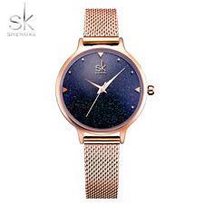SK Luxury Fashion Women's Starry Sky Stainless Steel  Analog Quartz Wrist Watch