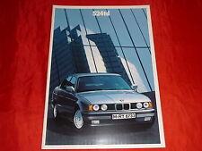 BMW 5er E34 524td Prospekt von 2/1990