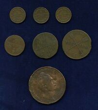 "Sweden (1/6 to 4) ""Skilling"" Coins: 1829, 1830, 1840, 1849, & 1855. Lot Of (7)"