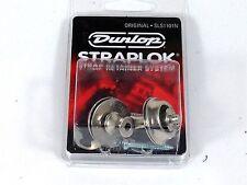 Dunlop Strap Locks - Guitar -Original Slim Button Strap Retainer System Nickel