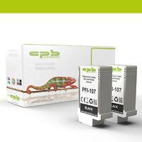 Ersetzt PFI-107BK 2x Tintenpatronen für Canon imagePROGRAF IPF770 IPF780 IPF785