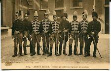 CPA - Carte postale - Belgique - Militaria - Armée Belge - Soldats des différent