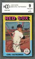 Carl Yastrzemski Card 1975 Topps #280 Boston Red Sox (50-50 Centered) BGS BCCG 9