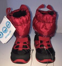 STRIDE RITE Winter Snow Boots Made2Play Sneaker Boot - Toddler 4M- Red/Black