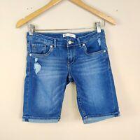 LEVIS Bermuda Shorts Jeans Girls 16 Regular Adjustable Waist Denim Bottoms 16R