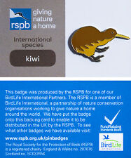 RSPB Pin Badge | Kiwi | International Species on GNaH card [00899]