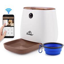 Pet Automatic Feeder Dog Cat Food Dispenser Smart App WiFi Camera
