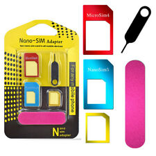 Standard Adapter Nano SIM Card Converter Set Cover Card Pin iPhone Android Cato