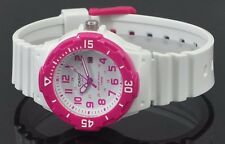 LRW-200H-4B White Pink Casio Ladies Watches 100M Date Display Analog Brand New