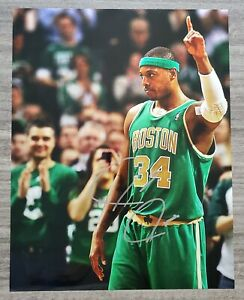 Paul Pierce Signed 11x14 Metallic Photo Boston Celtics MVP NBA HOF RAD