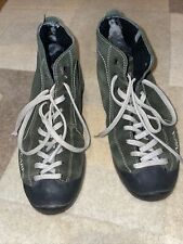 Scarpa Nomos green Suede Shearling Lined Lace Up Mid Hiking Boots EU 38