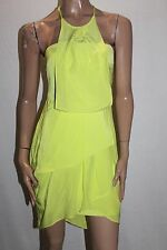 WISH Designer Acid Lime Liquid Cocktail Dress Size XS BNWT #SH40