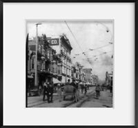 Photo: Photo of Stereograph,Spring Street,Los Angeles,California,CA,c1899,Horse,