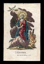 santino incisione1700 S.REGINA V.M. dip. a mano