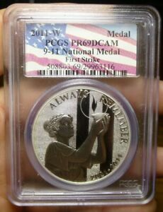 2011-W 9/11  Silver Medal September 11 Memorial PCGS PF69DCAM FS
