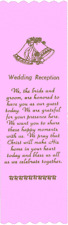 """Wedding Reception"" Bible Bookmark Ribbons, pack of 10, 2½"" x 8"" (#6-931)"