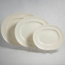 Wedgwood Annular Moonstone Graduated Set of 3 Meat Plate Platters