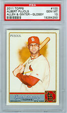 2011 ALBERT PUJOLS ALLEN & GINTER GLOSSY #100 259/999 PSA 10 GEM MINT!! POP 3!