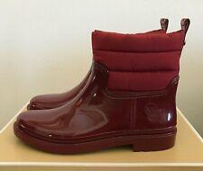 Womens Michael Kors Blakely Rain Bootie Brandy Red Size 9 Short Boots