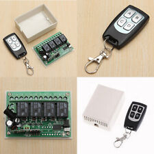 Nuevo ~ 12 V Relé 4CH 433 MHz Inalámbrico Transmisor Interruptor de control remoto de RF + Receptor