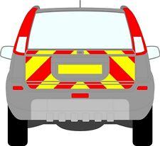 Nissan Xtrail 01 - 07 Rear Chapter 8 Chevron Reflective Graphics Decal