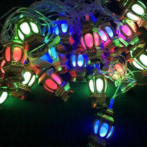 3M 20 LED Eid Mubarak Ramadan Ornament Muslim Islamic String Lights DIY Decals