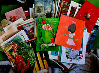 75+ Huge Vintage Christmas Used Cards So Many Beautiful Vibrant Cards Preowned