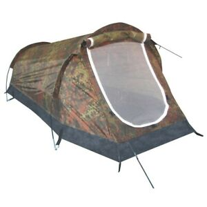 MFH Tent Military Camping Excursions Tunnel Schwarzenberg Bw Camo 1 Persona