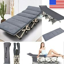 Folding Camping Sleeping Bed Cot Outdoor Portable Military Travel Soft Mat Beds