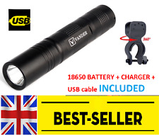 black front 1200 lumen bike light set kit - focus aluminium alloy bright lamp UK