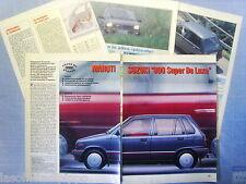 QUATTROR991-PROVA SU STRADA/ROAD TEST-1991- MARUTI SUZUKI 800 -5 fogli