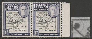 F.I.Deps 1946 1d Black & violet with Extra island SG G2aa Mnh.
