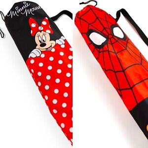 BNWT Official Minnie Mouse Spider-Man Red Yoga Exercise Gym Mat & Carry Bag