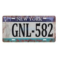 PLAQUE DE VOITURE AMERICAINE- NEW YORK -THE CITY THAT NEVER SLEEPS- NEUVE-USA
