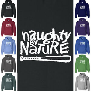 NAUGHTY BY NATURE Hoodie Sweatshirt Hip Hop Baseball Retro 2Pac NWA Hood Sweater