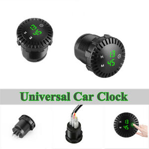 For 12-24V Car Clock Refit Interior LED Luminous Circular Time Display Universal