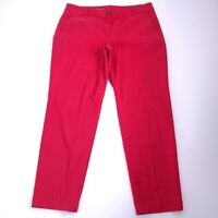 Talbots The Weekend Women's Chino Red Ankle Pants Size 14