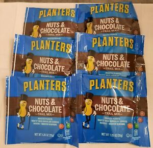 PLANTERS Nuts and Chocolate Trail Mix, 1.25 oz. Bags (6 Pack)   Trail Mix